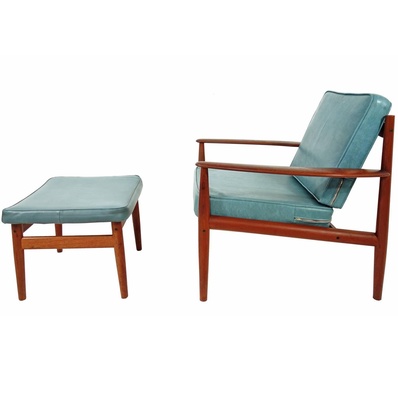 Great Grete Jalk Lounge Chair And Ottoman