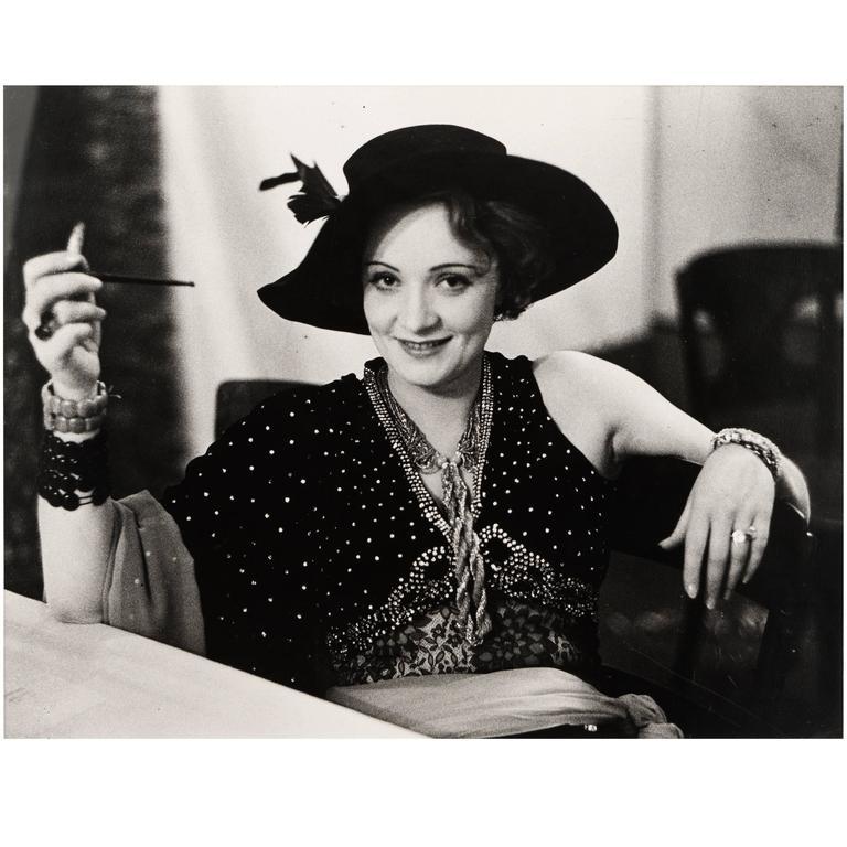Marlene Dietrich Silver Gelatin Photograph by Alfred Eisenstaedt, 1928