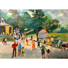 "American Painter, Nicolai Cikovsky, ""Central Park"", circa 1940"