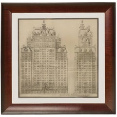 American Architectural Presentation Drawing