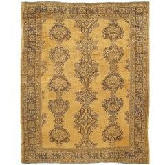 Antique Turkish Oushak Rug Carpet Circa 1900
