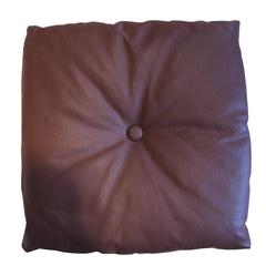 Italian Leather Decorative Pillow with button by Arflex, Italy
