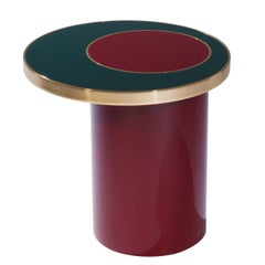 """Side table """"Nenuphar"""" red by Hervé Langlais for Galerie Negropontes"""