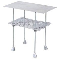 Robert Josten Cast Aluminum End Table