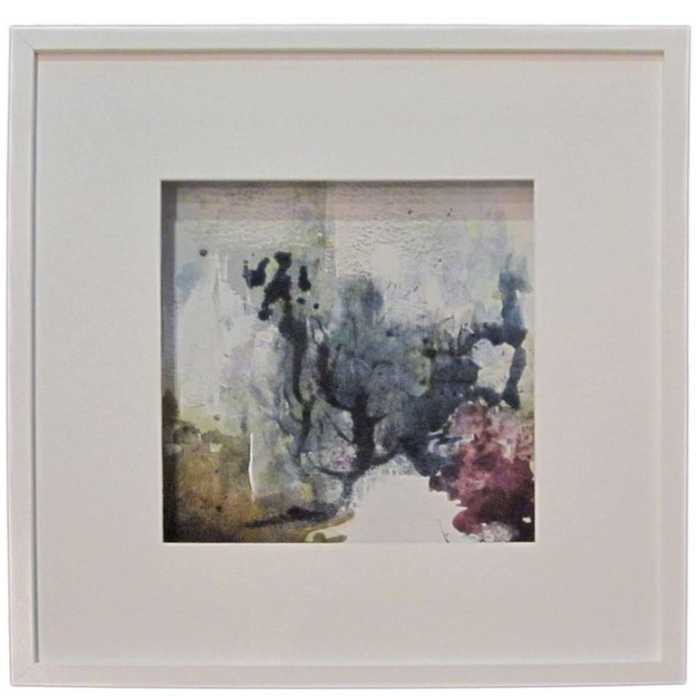 Abstract Vegetable Pigment Painting by Belgian Artist Isabelle Rousseau For Sale