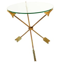 """Mexican Mid Century Modern Amazing Side Table """"Arrows"""" Attributed to Arturo Pani"""