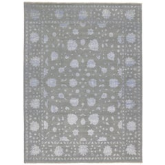 New Contemporary Oushak Luxe Area Rug with Hollywood Regency Directoire Style