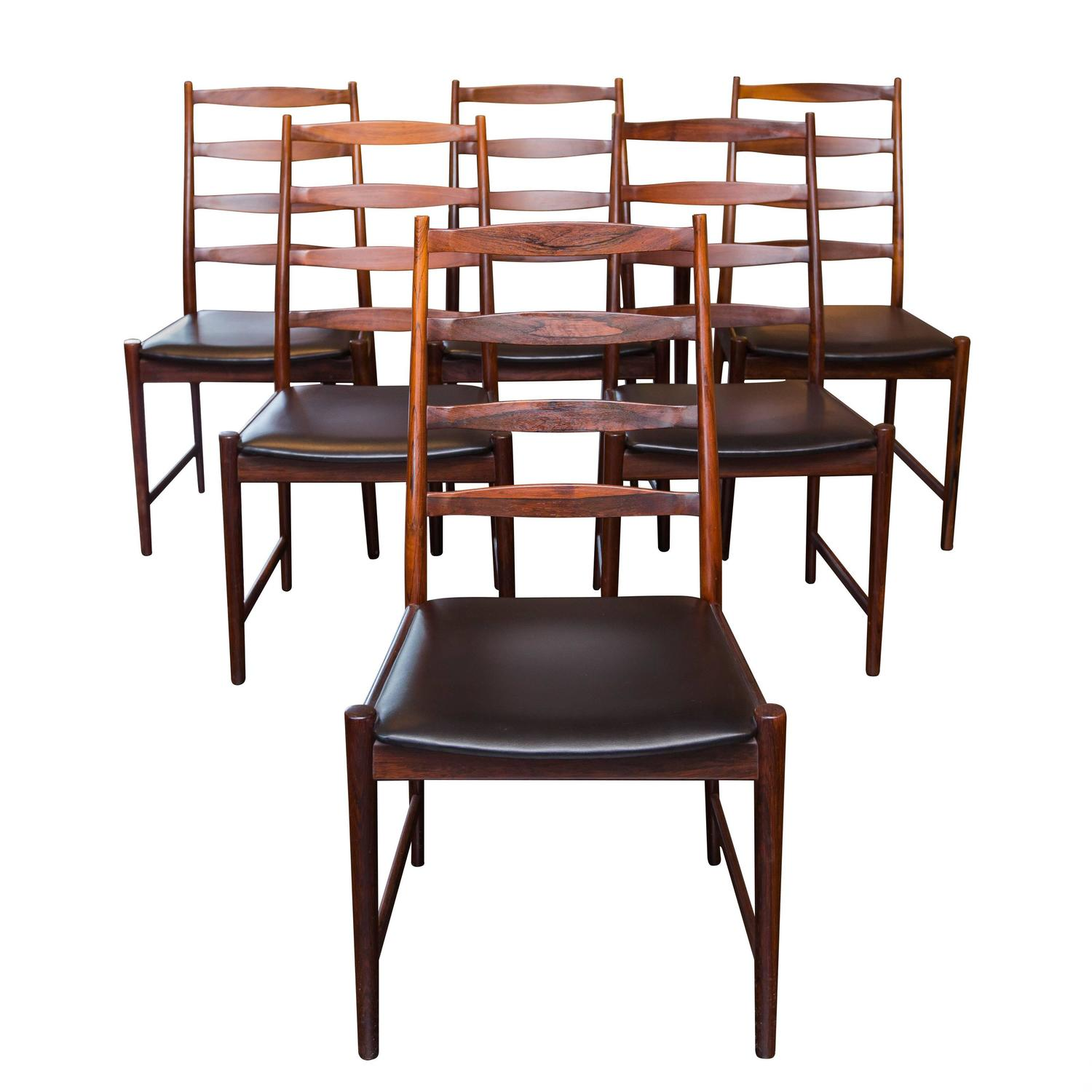 Six Arne Vodder Style Rosewood Dining Chairs At 1stdibs