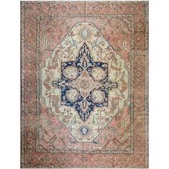 Antique Persian Serapi Carpet, Mid-19th Century