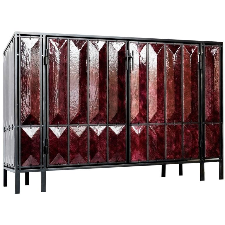Glazed Lava Cabinet By Christophe C Me For Sale At 1stdibs