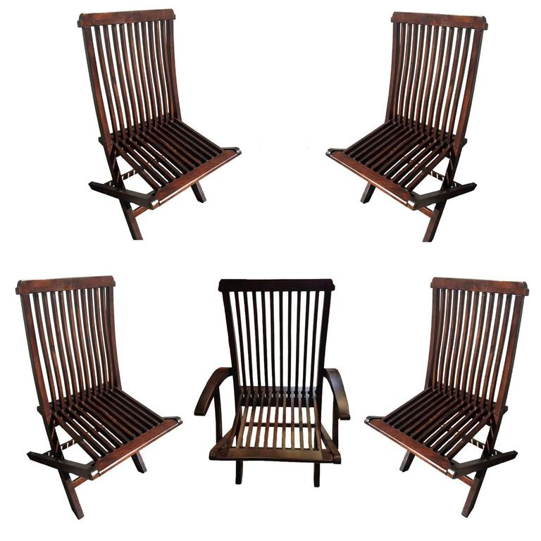 this set of five wood folding chairs patio chairs is no longer