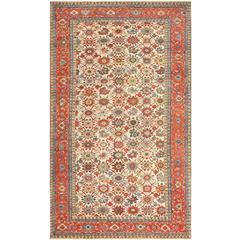 Large Colorful Antique Persian Serapi Rug