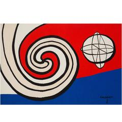 Modern Aubusson Tapestry by Alexander Calder - 1970s