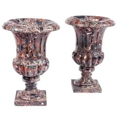 Pair of Classical Shaped Marble Urns