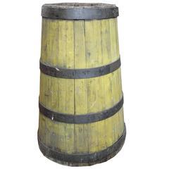 19th Century Wood and Iron Graduated Barrel
