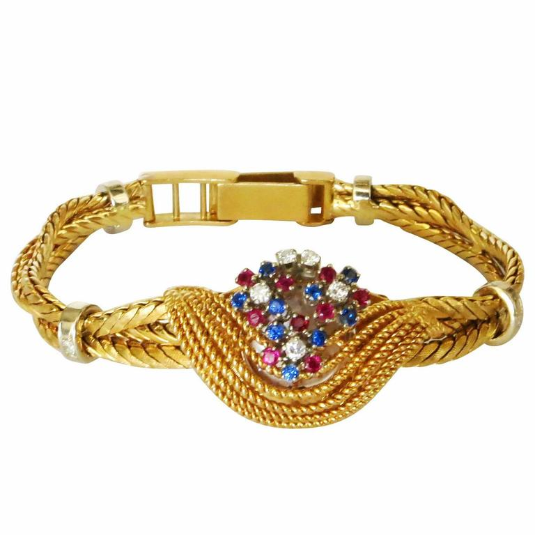 18-Karat Carl Bucherer Band Rolex Precision Watch Bracelet