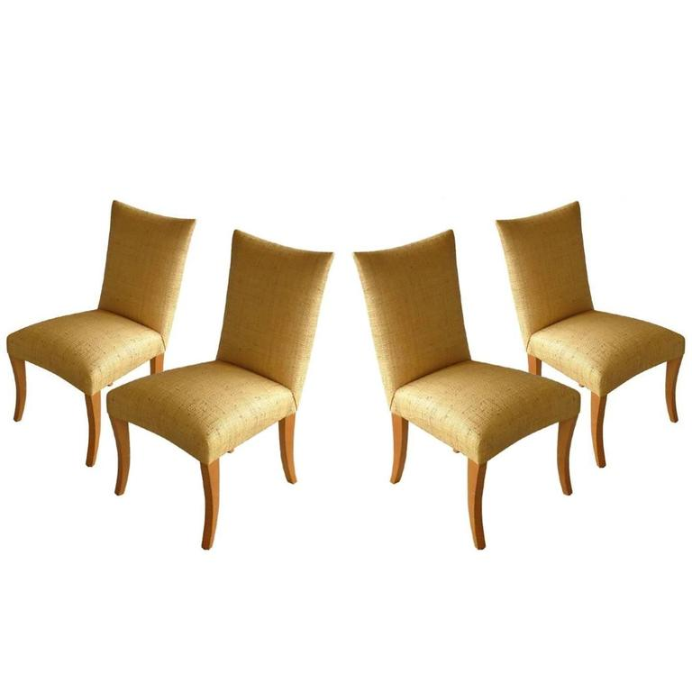 Set of Four Side Chairs by John Hutton for Donghia