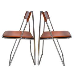 Pair of Tamara Folding Chairs by Arrben