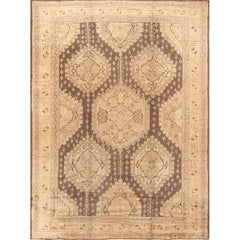 Decorative Large Antique Turkish Oushak Rug