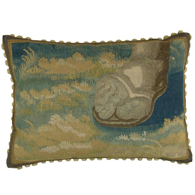 17th Century Antique Brussels Baroque Tapestry Pillow