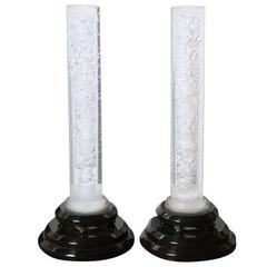 "Pair of Haziza Lucite ""Bubble"" Lamps"