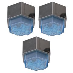 Italian Blue Glass Flush Mounts