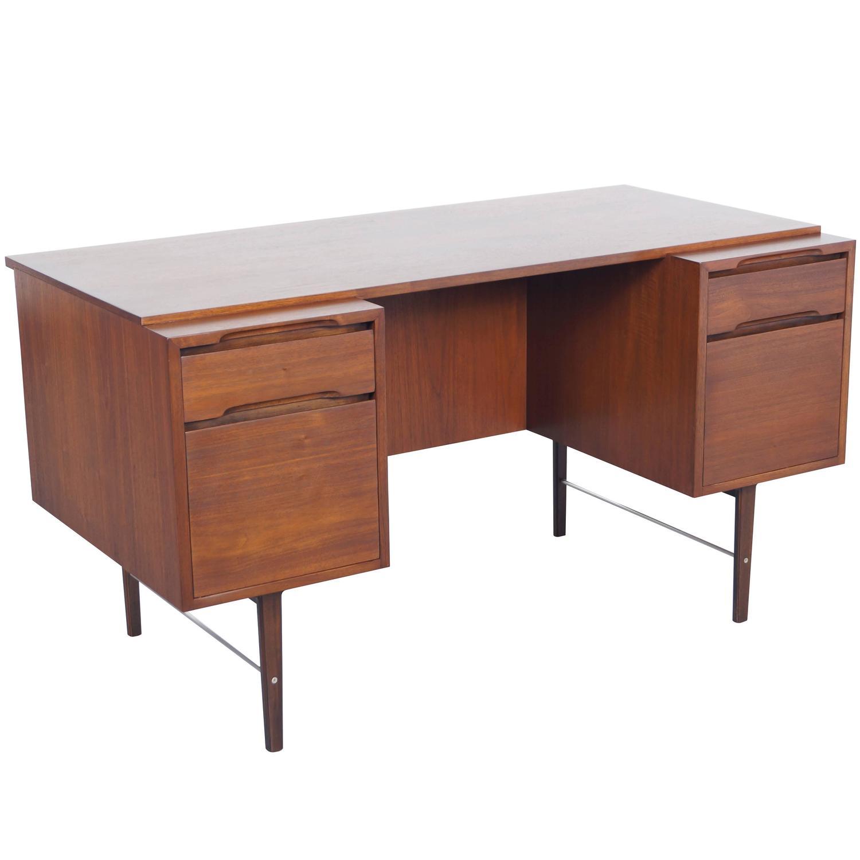 John Widdicomb Furniture For Sale Vintage Walnut Desk by Kipp Stewart For Sale at 1stdibs