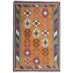 Antique Rugs, Kilim Rugs, Persian Rugs, Qashqai Carpet from Iran