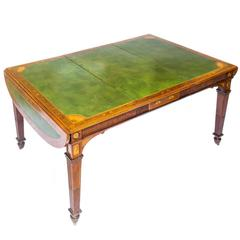 Exhibition Quality 19th Century Neoclassical Extending Dining / Writing Table