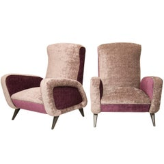 Awesome Pair of Mid-Century Italian Armchairs