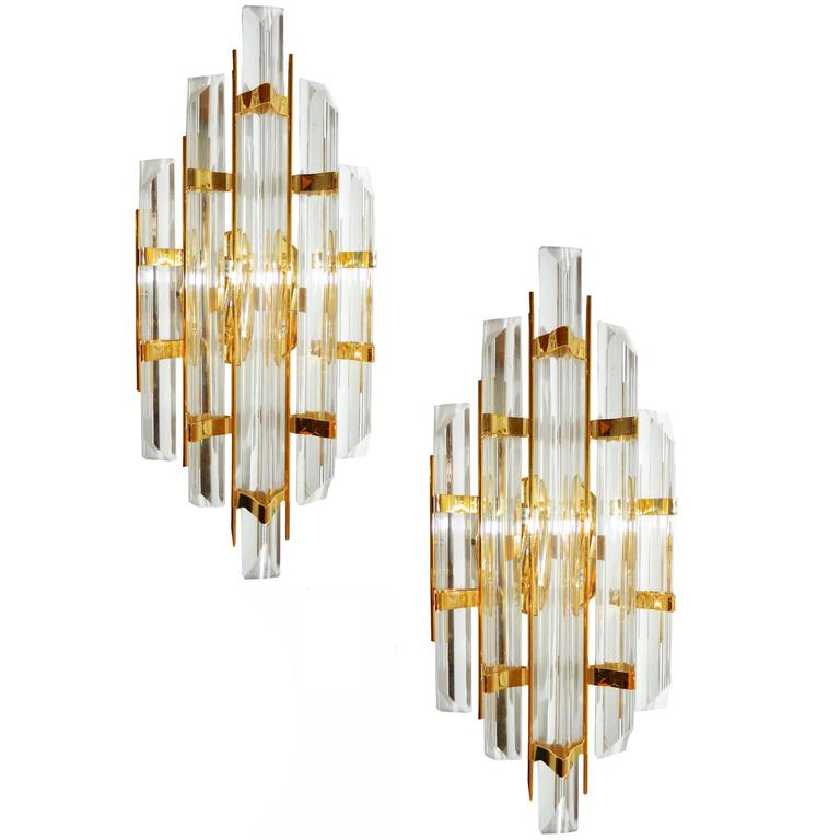 Smoky Pearl Furniture Painting Technique Captiva: 3 Pairs Of Murano Glass Sconces, Attributed To Venini
