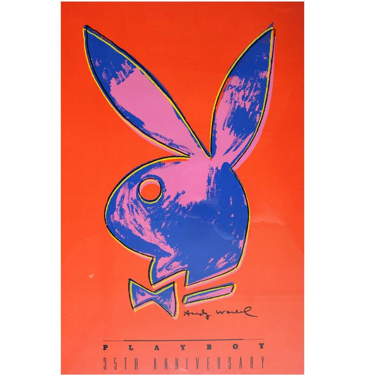 Andy Warhol Playboy 35th Anniversary Poster For Sale at 1stdibs