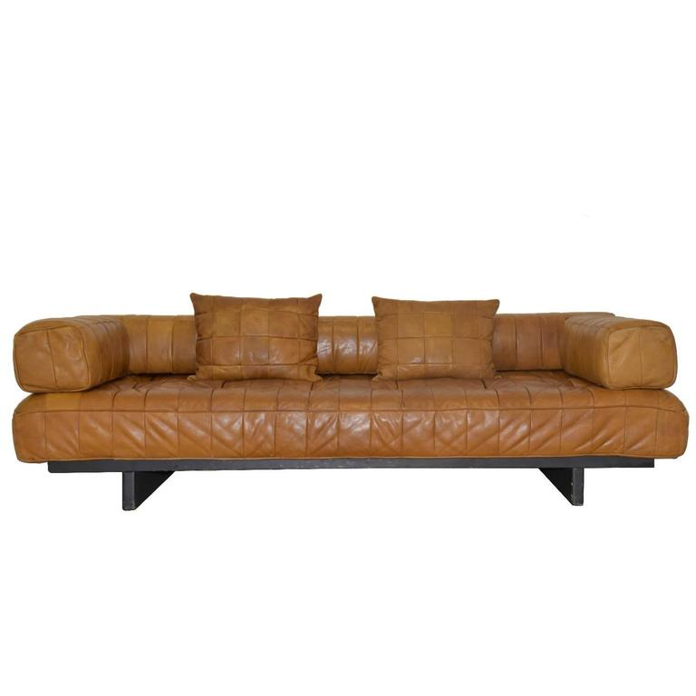 Vintage Swiss De Sede DS 80 leather Daybed, 1960s 1