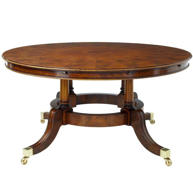 Large Walnut Extending Jupe Dining Table For Sale