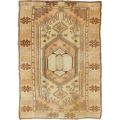 Tribal Vintage Moroccan Rug with Geometric Pattern, Field of Flowers