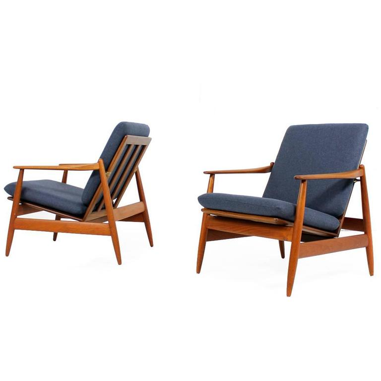 Pair of 1960s teak easy chairs by poul volther mod 340 for Lounge chair kopie