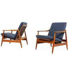 Pair of 1960s Teak Easy Chairs by Poul Volther Mod. 340 for Frem Rojle Dansih