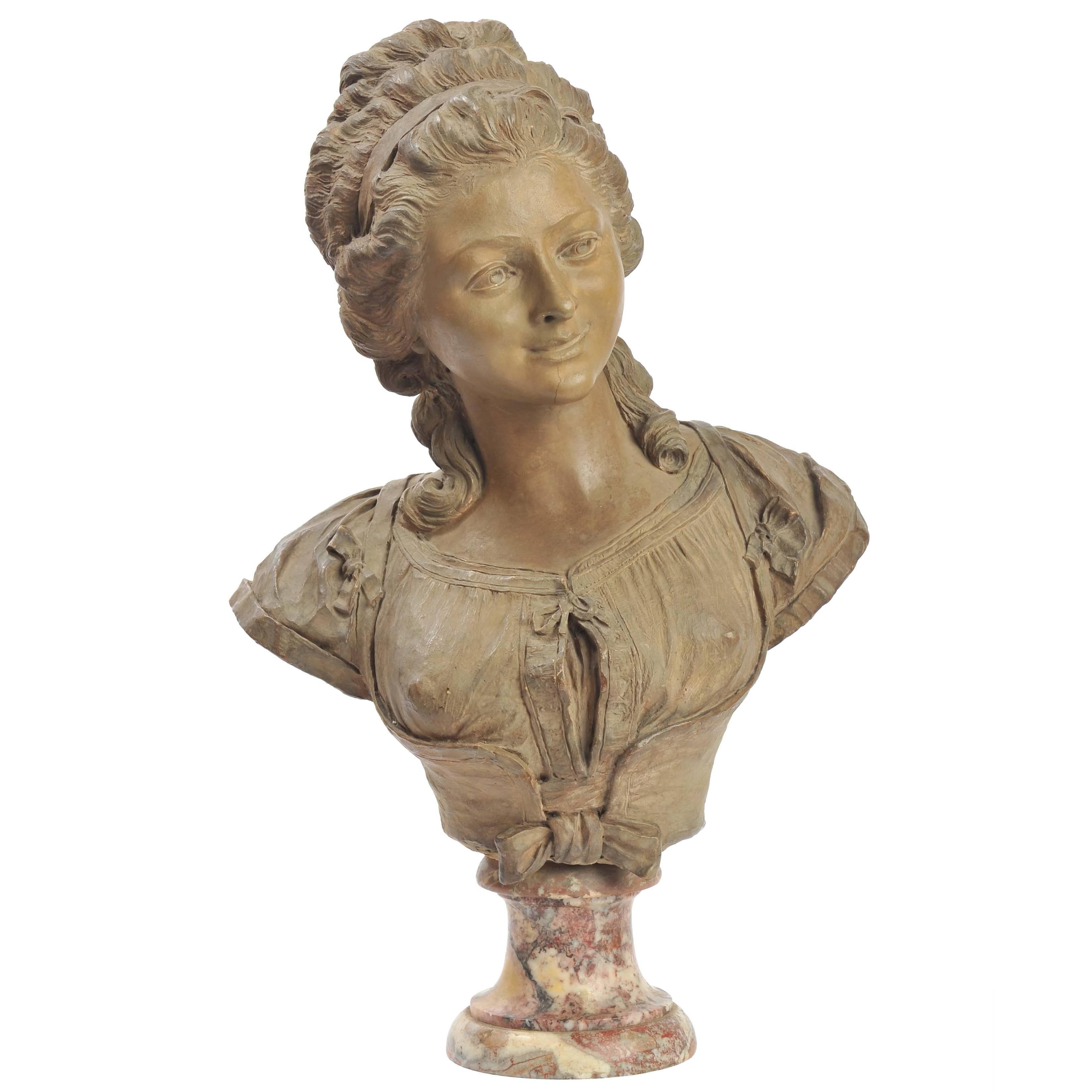 19th Century French Terracotta Bust