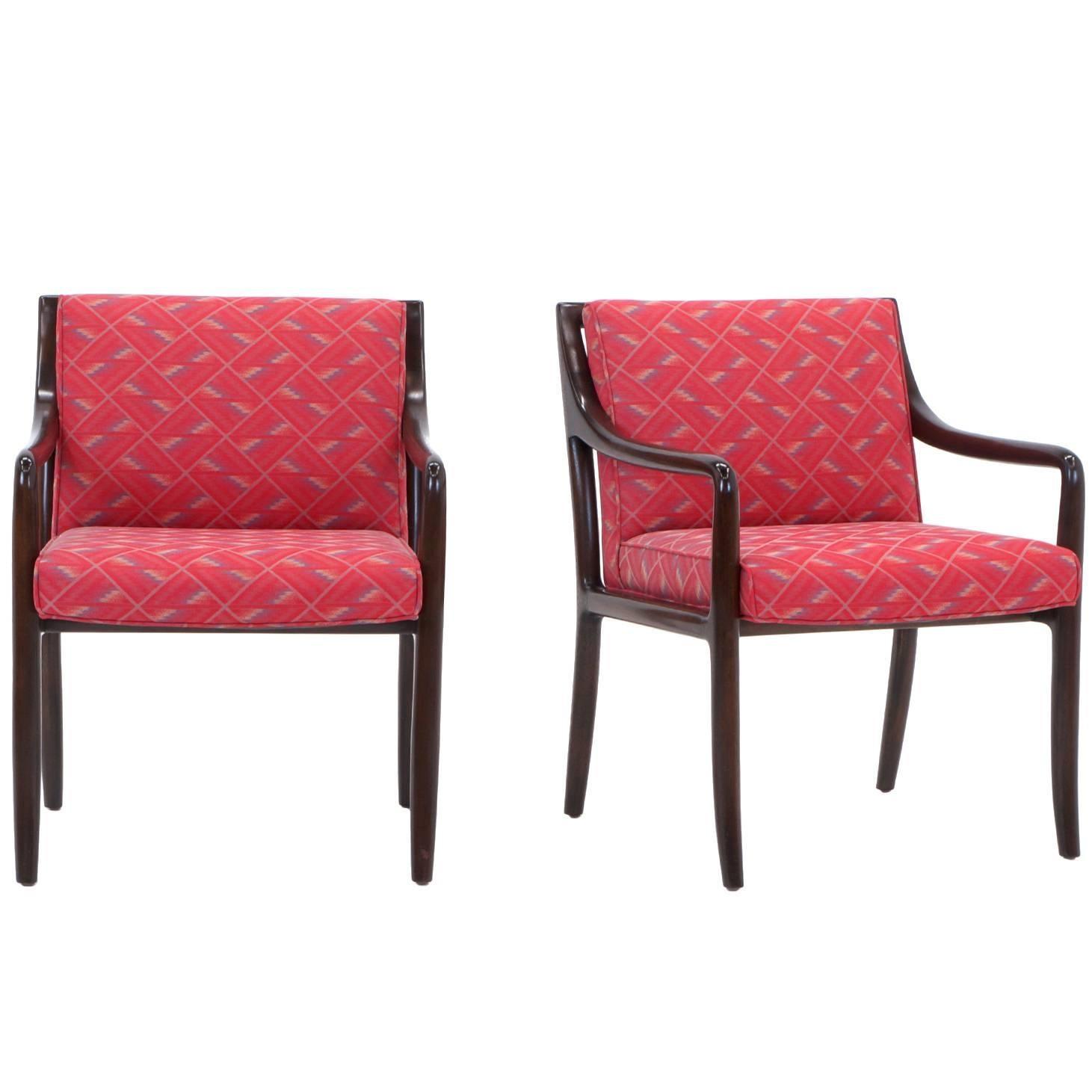 Pair of Edward Wormley for Dunbar Side Armchairs