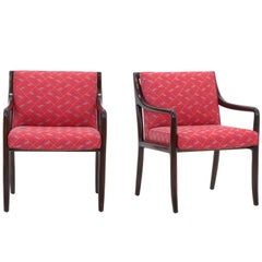 Pair of Edward Wormley for Dunbar Side Armchairs