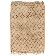 Rare Large Vintage Beni Ouarain Carpet