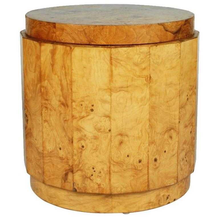 Olive Burl Pedestal Table by Edward J Wormley for Dunbar