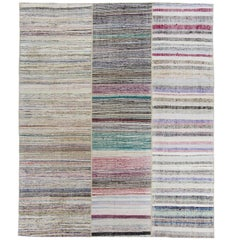 Striped Cotton Anatolian Rag Rug