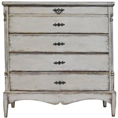 Antique  Painted Scandinavian Chest of Drawers , with Ample Storage, circa 1790
