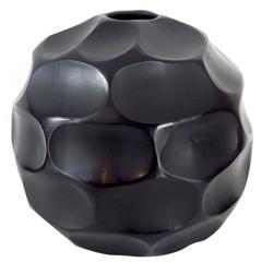 Italian Blown Glass Sculpture Vase by Massimo Micheluzzi, Murano, 2012