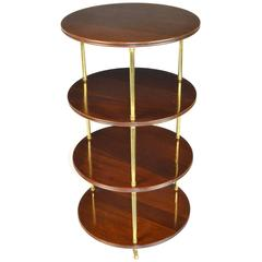 Regency Style Mahogany and Brass Four-Tier Étagère