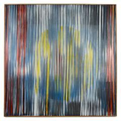 Nino Calos Op-Art Geometric Color Field Painting, 1972