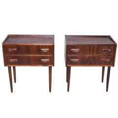 Pair of Danish Rosewood Nightstands