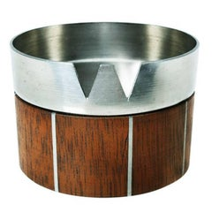 Walnut and Pewter Ashtray by Paul Evans