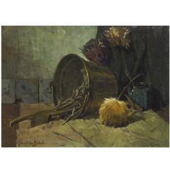 'Copper Bucket' Oil Painting by Gerard van Wijland